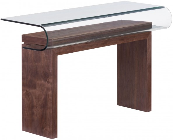 Mystic Walnut Console Table