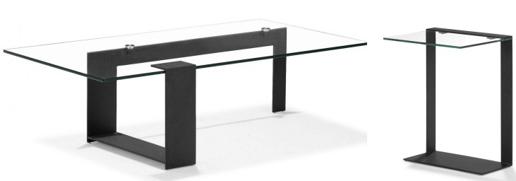Zeon Black Occasional Table Set