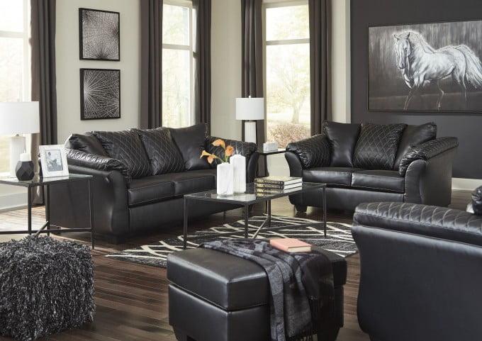 Betrillo Black Living Room Set