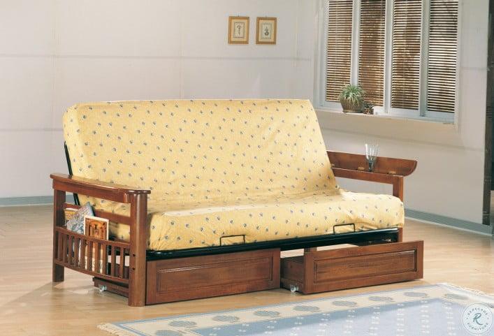 4075 Warm Brown Futon Sofa Frame