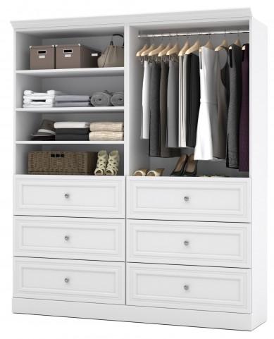 Versatile White 72'' Storage Wardrobe