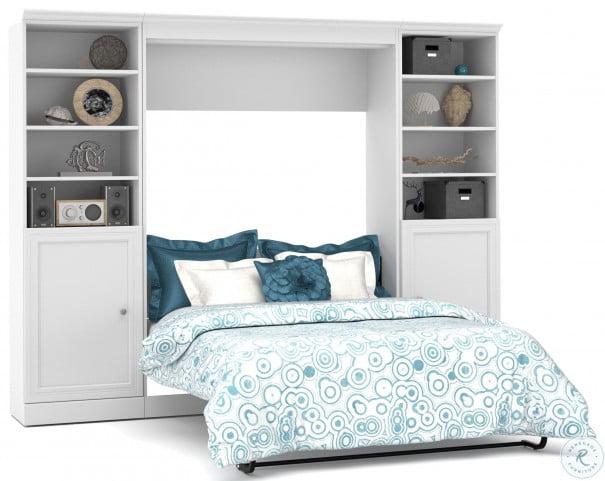Versatile White 109'' Door Full Wall Bed
