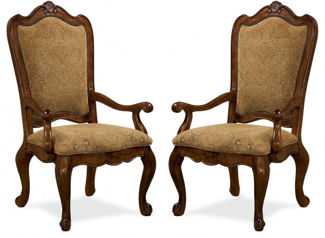 Villa Cortina Upholstered Back Arm Chair Set of 2