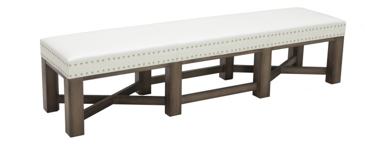Brixton Bench in Ivory