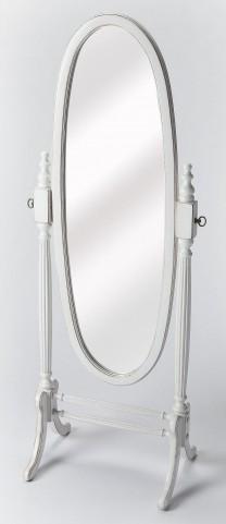 Masterpiece Cottage White Cheval Mirror
