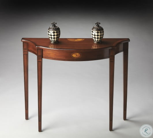 Chester Masterpiece Olive Ash Burl Console Table