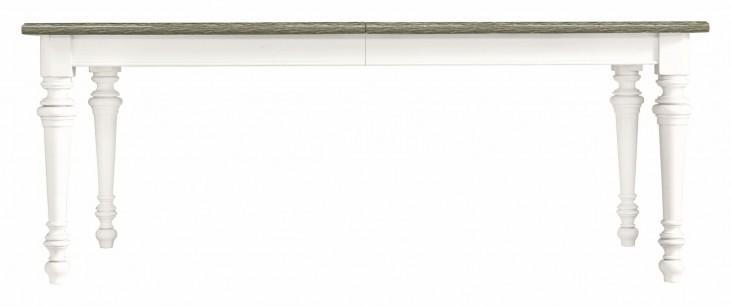 Coastal Living Saltbox White Rectangular Leg Dining Table