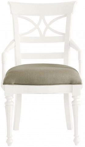 Coastal Living Saltbox White Sea Watch Arm Chair