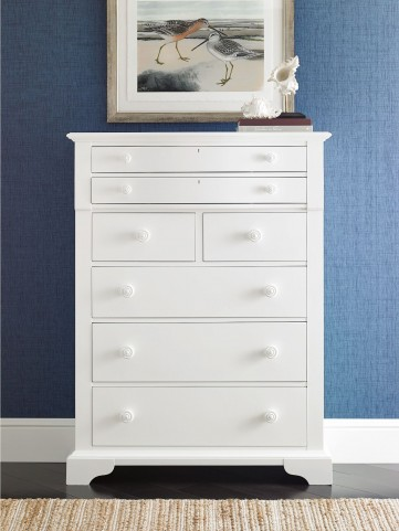 Coastal Living Saltbox White Chest