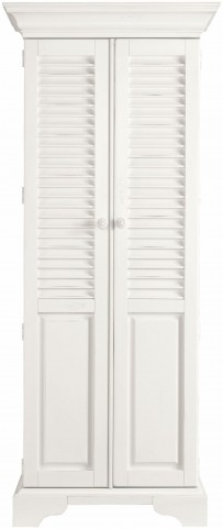 Coastal Living Saltbox White Summerhouse Utility Cabinet