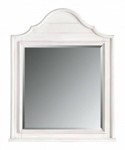 Coastal Living Saltbox White Arch Top Mirror