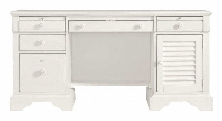 Coastal Living Saltbox White Computer File Desk