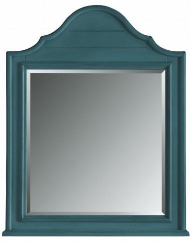 Coastal Living English Blue Arch Top Mirror
