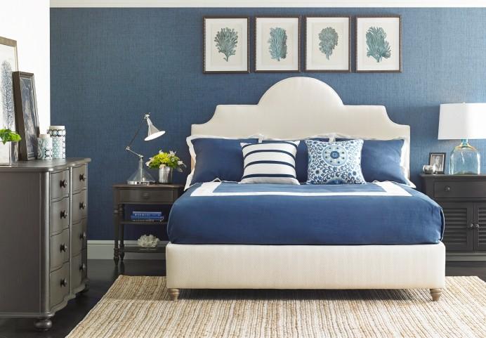 Coastal Living Irish White Herringbone Breach Inlet Bedroom Set