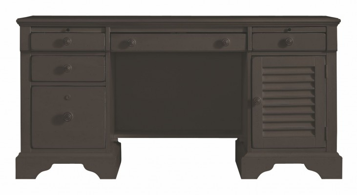 Coastal Living Gloucester Grey Computer File Desk