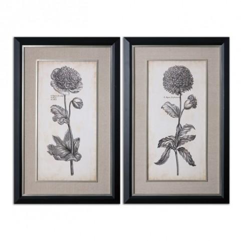 Singular Beauty Floral Art Set of 2