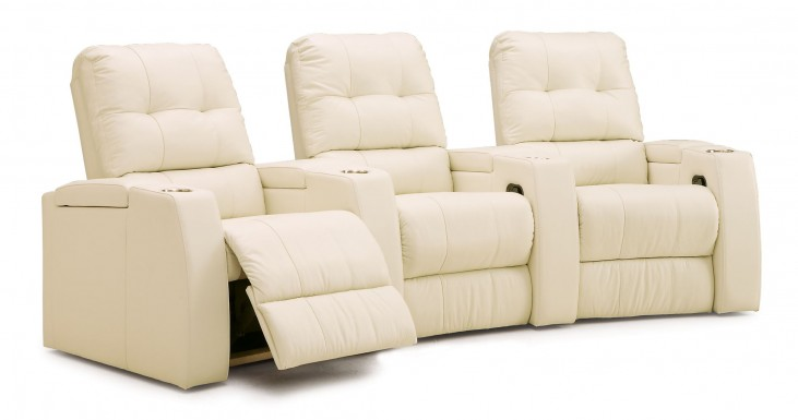 Record Upholstered Power Reclining Home Theatre Seating