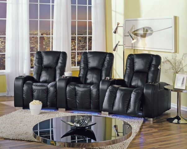 Media Upholstered Power Reclining Home Theatre Seating