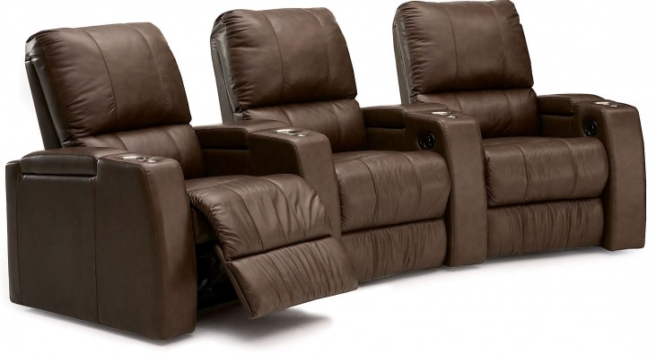 Playback Leather Power Reclining Home Theatre Seating