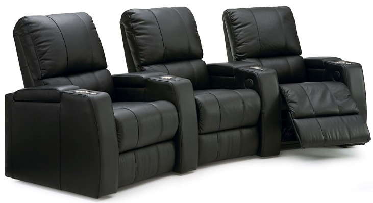 Playback Upholstered Power Reclining Home Theatre Seating