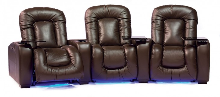 Mendoza Bonded Leather Power Reclining Home Theatre Seating