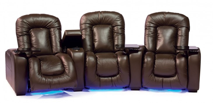 Mendoza Vinyl Power Reclining Home Theatre Seating