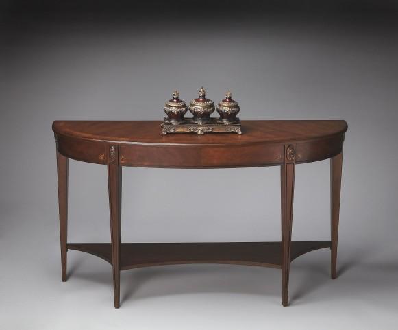 Masterpiece Astor Nutmeg Demilune Console Table