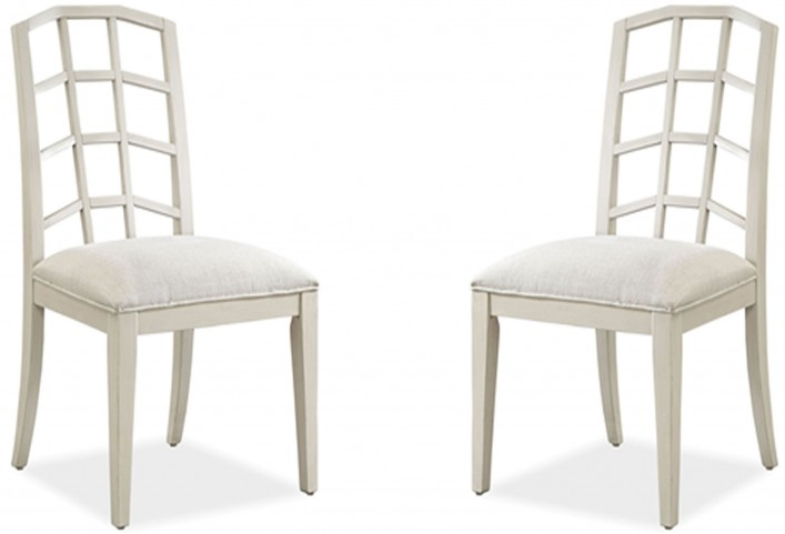 Moderne Muse Canvas Side Chair Set of 2