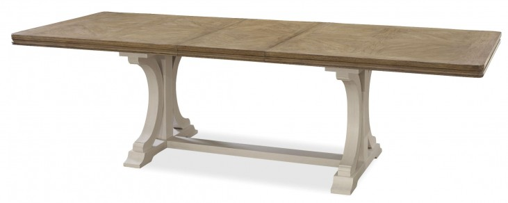 Moderne Muse Bisque Extendable Rectangular Dining Table
