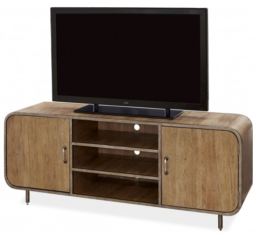 Curated E Muse Bisque Waterfall Media Console