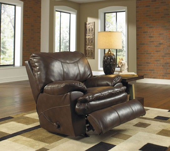 Perez Chestnut Power Recliner