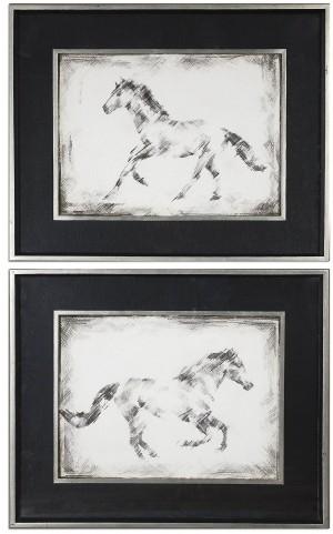 Equine Study Prints Set of 2
