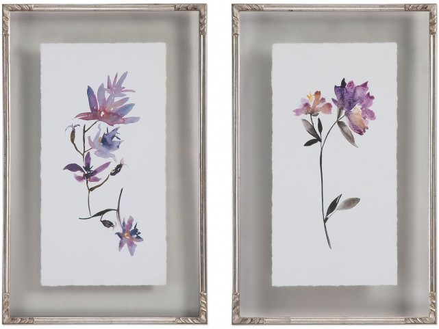 Floral Watercolors Art Set of 2