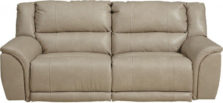 Carmine Pebble Reclining Sofa