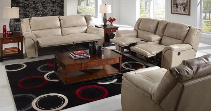 Carmine Pebble Power Reclining Living Room Set