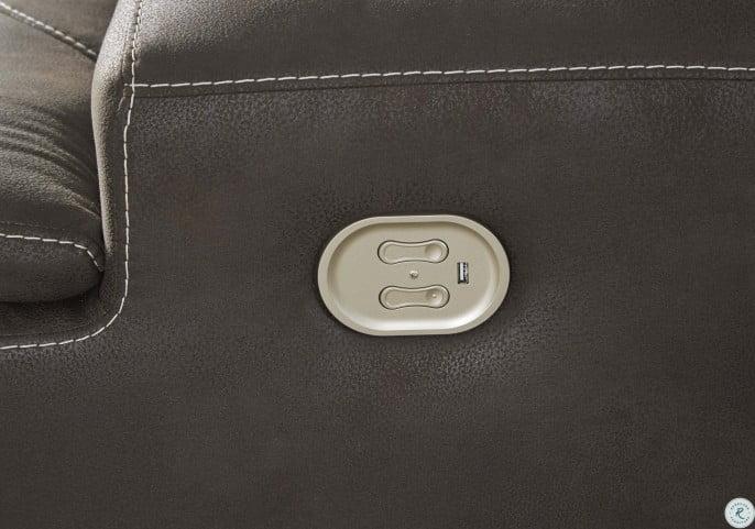 Kitching Java Power Reclining Adjustable Headrest Living Room Set