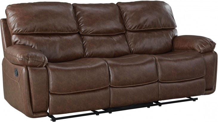Colson Red Brown Reclining Sofa from Standard Furniture | Coleman ...