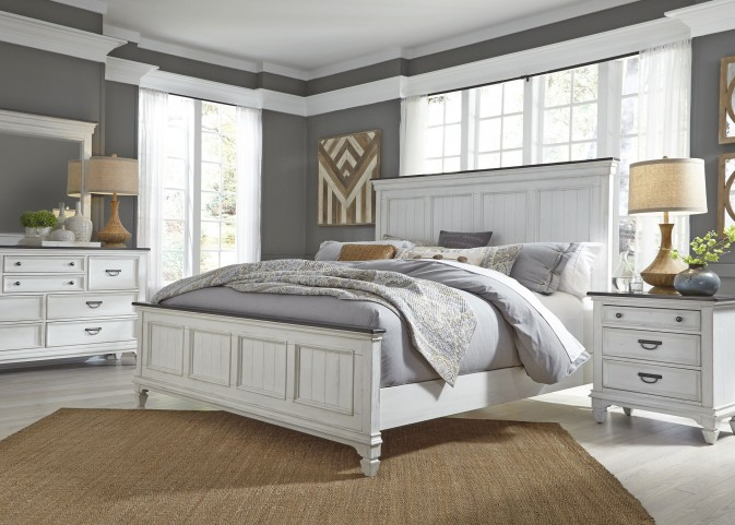 Allyson Park Wirebrushed White Panel Bedroom Set from Liberty ...