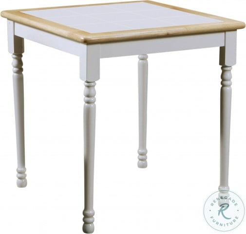 4191 Natural And White Square Tile Top Dining Table From Coaster 4191 Coleman Furniture
