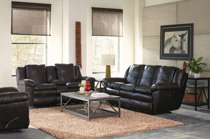Aria Chocolate Lay Flat Reclining Living Room Set