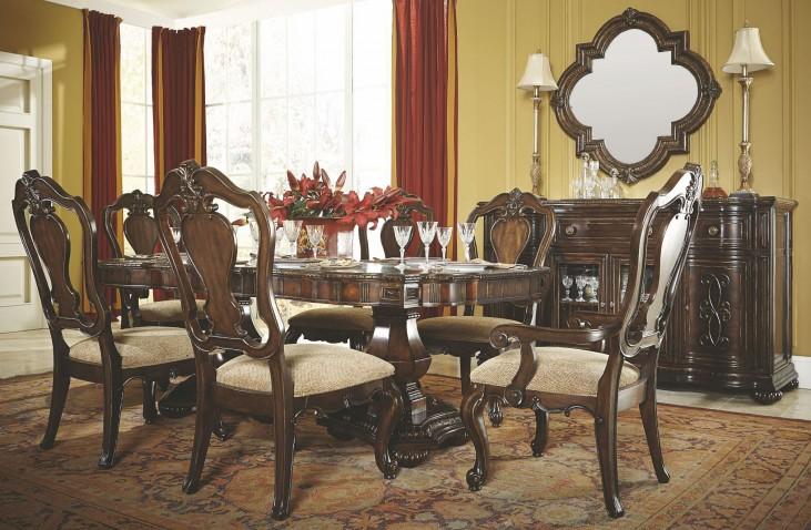 La Bella Vita Extendable Double Pedestal Dining Room Set