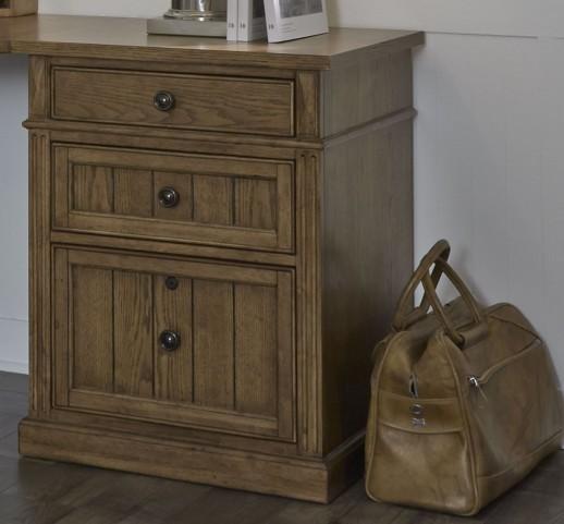 "Cumberland Creek Rustic Oak 24"" 3 Drawer File Cabinet"