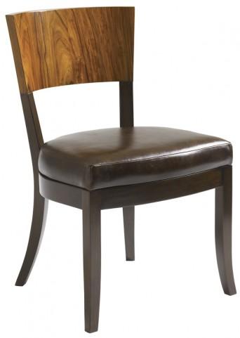 Aquarius Walnut Allure Side Chair