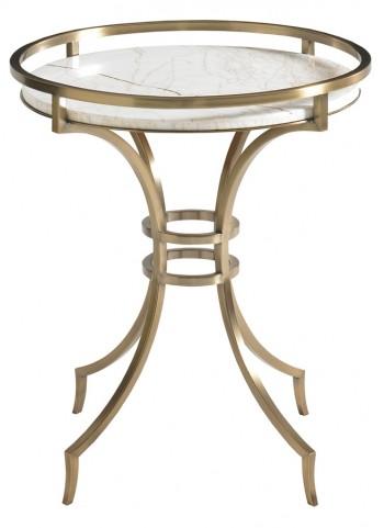 Aquarius Antique Golden Metal Base Onyx Lamp Table
