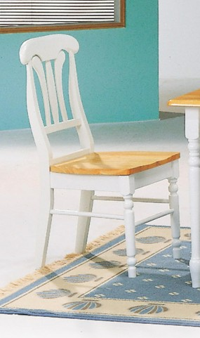 Natural/White Chair 4222 Set of 2
