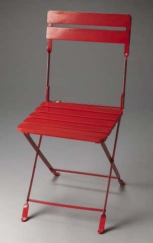 Bailey Industrial Chic Red Folding Chair