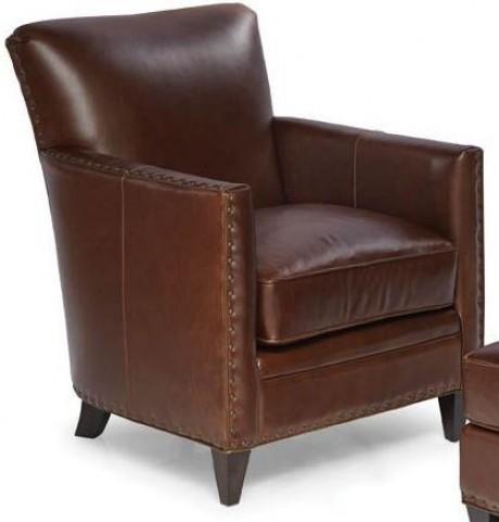 Logan Trends Walnut Leather Chair
