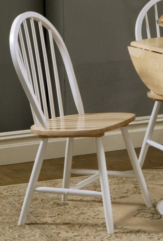 Damen Natural/White Side Chair Set of 4