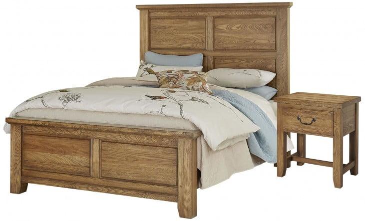 American Oak Honey Oak Mansion Bedroom Set From Vaughan Bassett Coleman Furniture