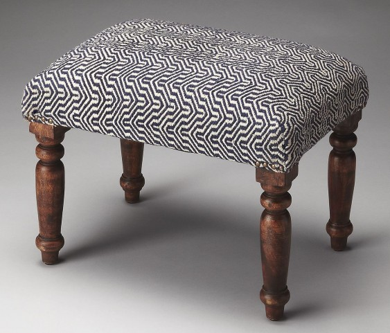 Manto Mykonos Navy Upholstered Stool